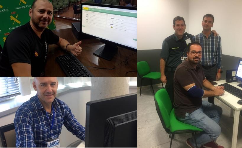 Varias de las imágenes de la votación de hoy. A la izquierda, arriba, el secretario de comunicaciónd de la delegación de Melilla, Ramón Carrasco, emitiendo su voton. Debajo, el secretario nacional de Relaciones Institucionales, Juan Liébana, votando en Va