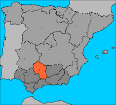 En destacado, dentro del mapa, la provincia de Córdoba.