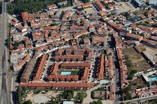 Vista aérea de la localidad de Viana de Cega.