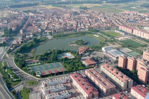 Vista aérea de la localidad de Laguna de Duero.