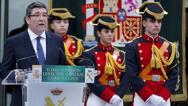 José Manuel Holgado, en el acto de toma de posesión como Director General de la Guardia Civil.