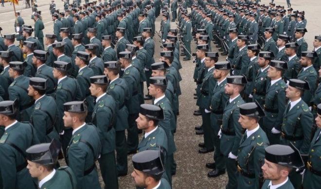 Jura de bandera de la 122ª promocion en la Academia de Guardias y Suboficiales de la Guardia Civil, en Baeza (Jaen). MUNDO