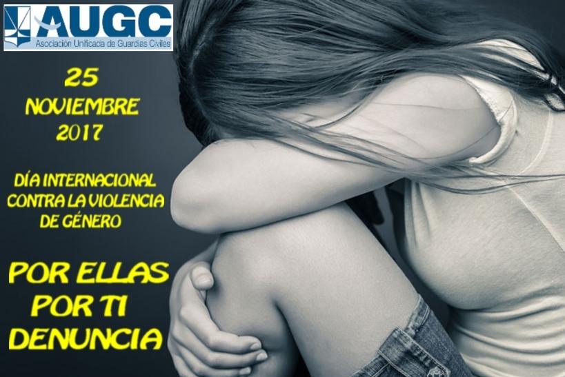Cartel elaborado por AUGC con motivo del Día contra la Violencia de Género.