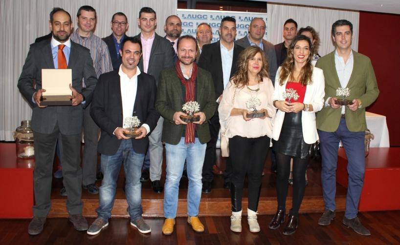 """Los periodistas y vocales premiados en los XI Premios Periodísticos """"Juan Carlos Fernández Vales"""""""