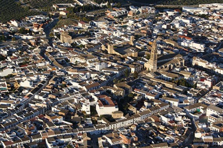 Vista aérea de la localidad cordobesa de Bujalace.