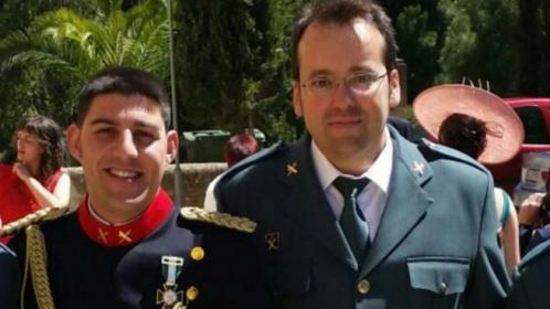 Los dos compañeros asesinados ayer en Teruel, Víctor Romero Pérez y Víctor Jesús Caballero Espinosa