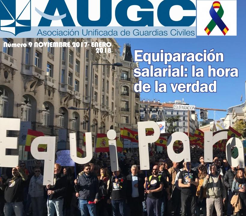 Imagen parcial de la portada del noveno número de 'La Revista de AUGC'