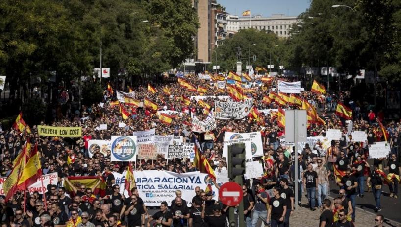 La manifestación por la equiparación salarial reunió el pasado noviembre en Madrid a más de 70.000 guardias civiles y policías.