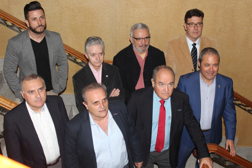 Representantes de las asociaciones profesionales de la Guardia Civil durante la rueda de prensa conjunta que ofrecieron el pasado noviembre reclamando la equiparación salarial.