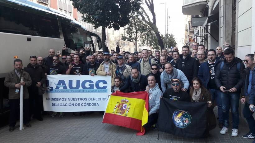 La representación cordobesa en la manifestación de Barcelona.