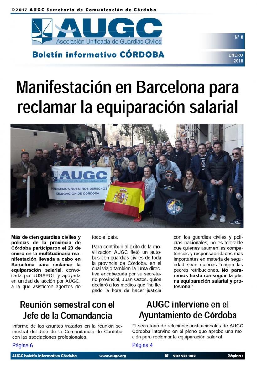 Portada del boletín nº 8 de AUGC Córdoba