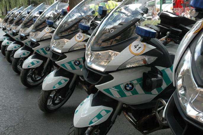 Motocicletas de la Agrupación de Tráfico de la Guardia Civil.
