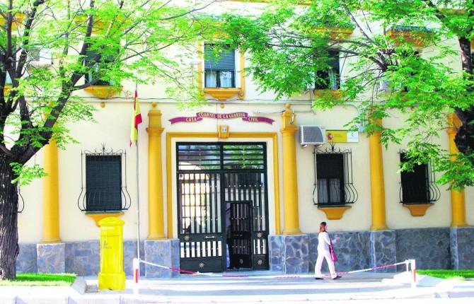 Fachada de la Comandancia de la Guardia Civil de Jaén
