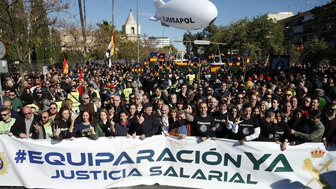 Manifestación celebrada en Sevilla
