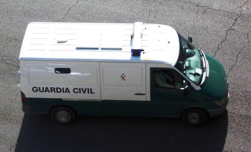 Un vehículo de la Guardia Civil para el traslado de presos.