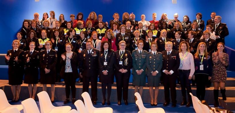 Imagen de grupo de las participantes en la Jornada.