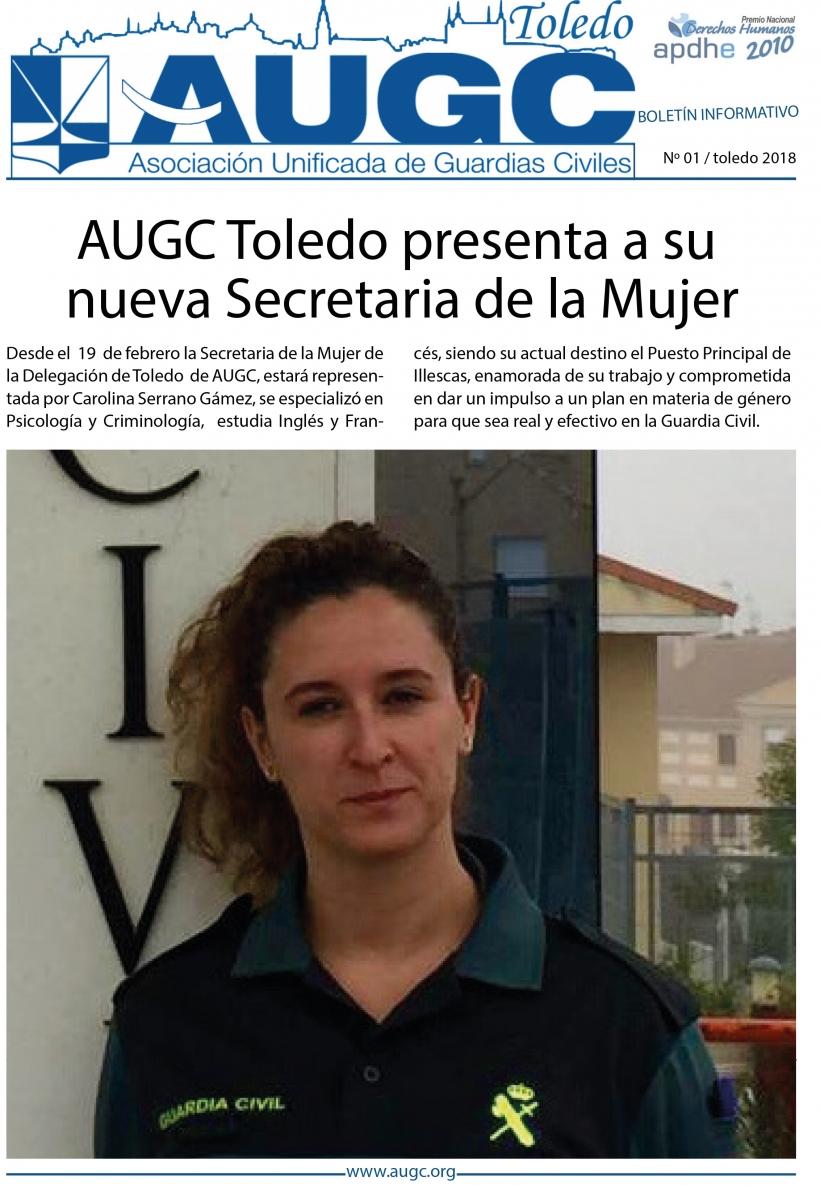 Portada del primer boletín informativo de AUGC Toledo