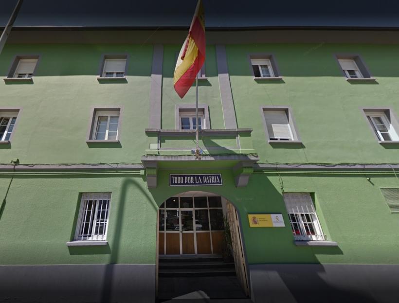 Fachada de la Comandancia de la Guardia Civil de Lugo.