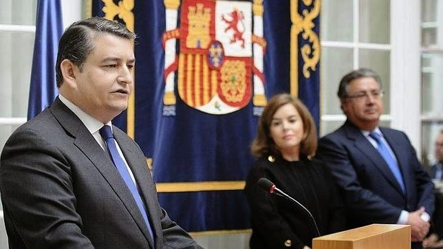 El delegado del Gobierno en Sevilla, Antonio Sanz, en el día de su toma de posesión del cargo, en febrero de 2015.