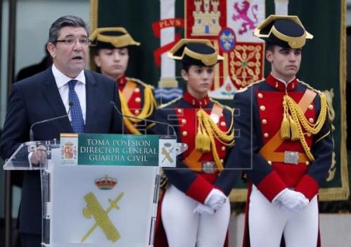 José Manuel Holgado, en el acto de toma de posesión de su cargo como director general de la Guardia Civil.