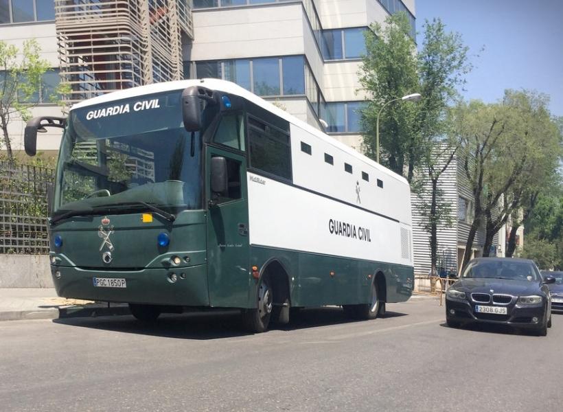 Un autobús de la GC