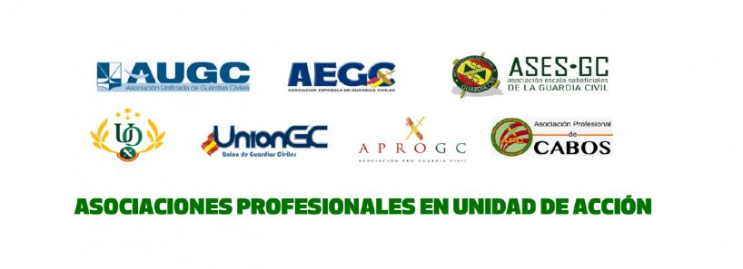 Asociaciones profesionales en unidad de acción por la equiparación salarial.