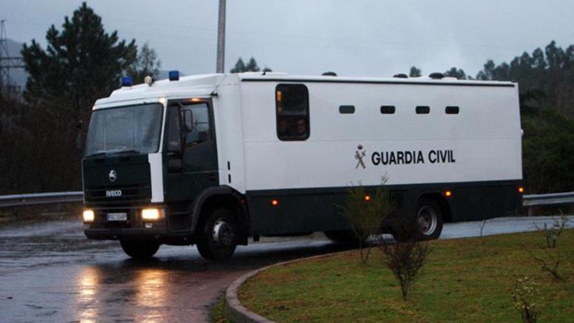 Un furgón de la Guardia Civil para traslado de presos.