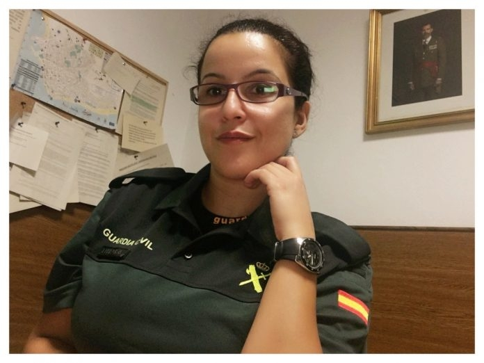 La guardia civil Luisa María Flores.