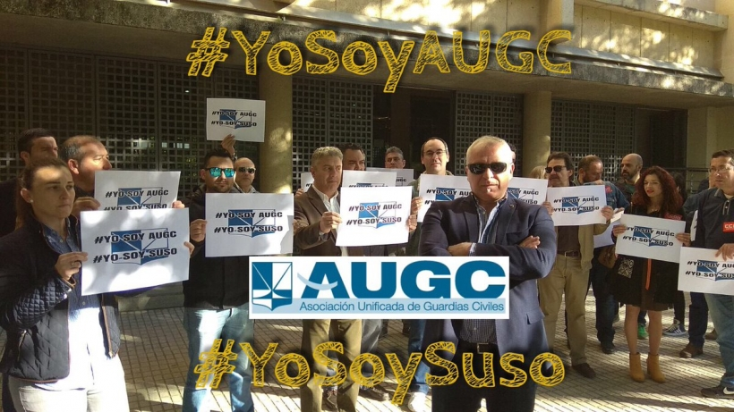 Miembros de la delegación de AUGC en Badajoz expresan su apoyo a Jesús Jiménez, Suso.