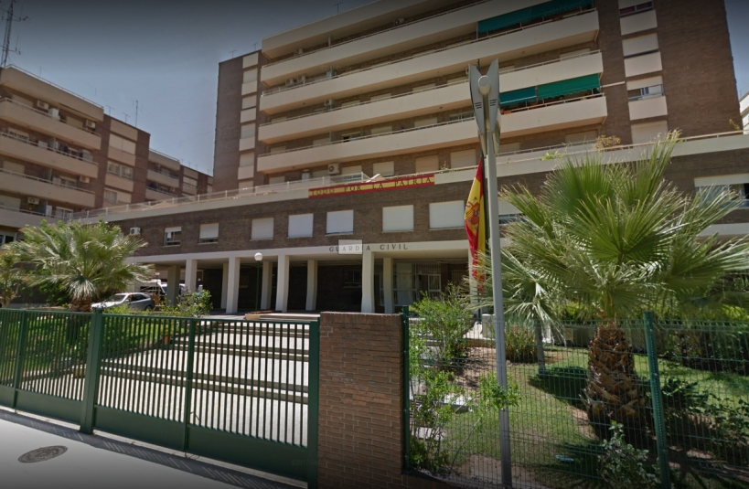 Comandancia de la Guardia Civil de Castellón, en cuyo salón de actos se celebrará la asamblea de AUGC.