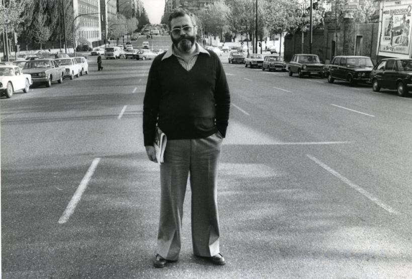 El entonces Comandante Otero, fotografíado en Madrid en 1977. Foto: Ricardo Martín / El País.