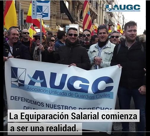 Captura del vídeo sobre equiparación salarial editado por AUGC.