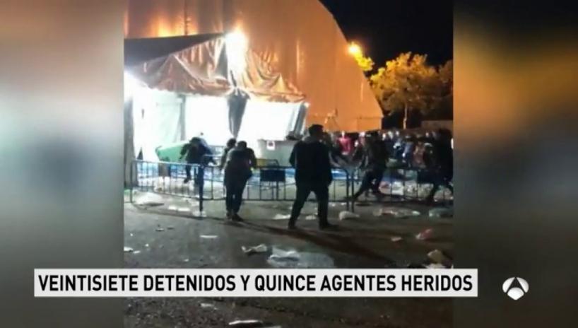 Captura de un informativo de Antena 3 en el que se informaba de los incidentes producidos en las fiestas de Majadahonda (Madrid) el pasado año.