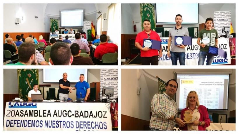 Varias imágenes de la Asamblea Provincial de AUGC Badajoz.