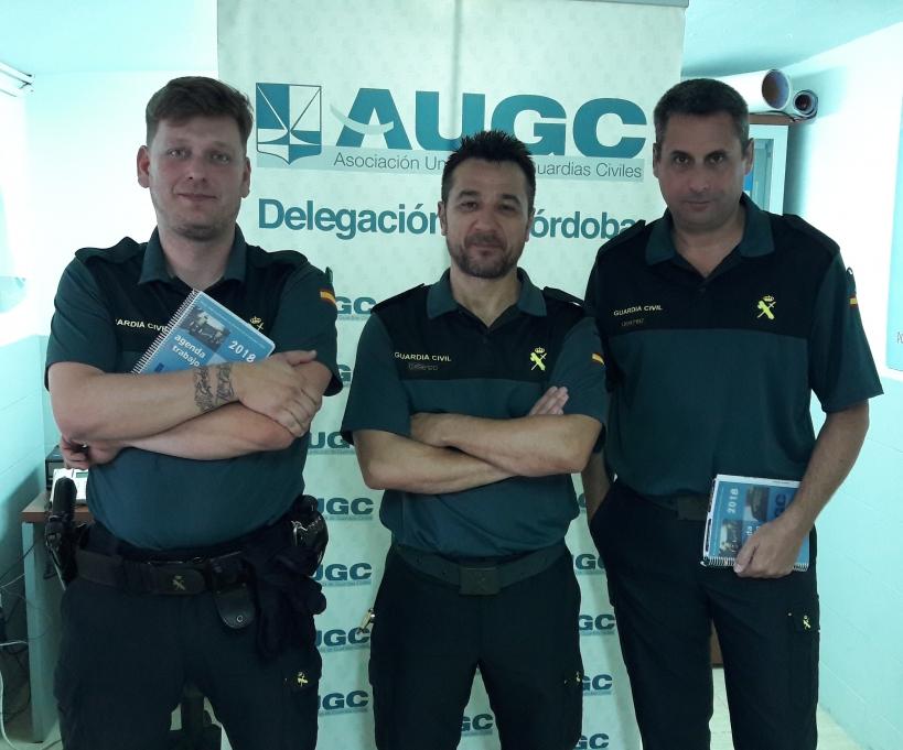 Representantes de AUGC asistentes a la reunión con el Jefe de Córdoba