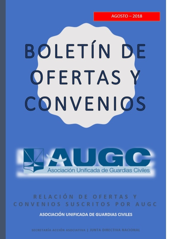 Boletín ofertas y  convenios 2018