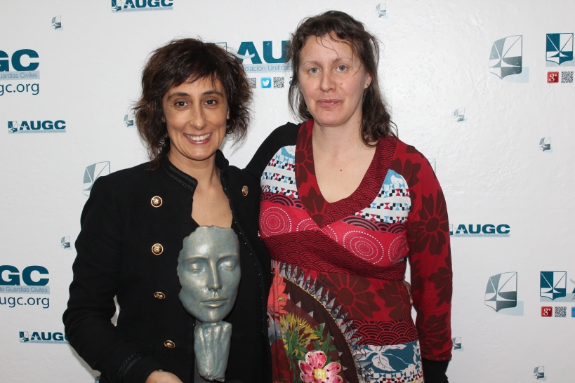 Alicia Sánchez (derecha), con su predecesora Pilar Villacorta.