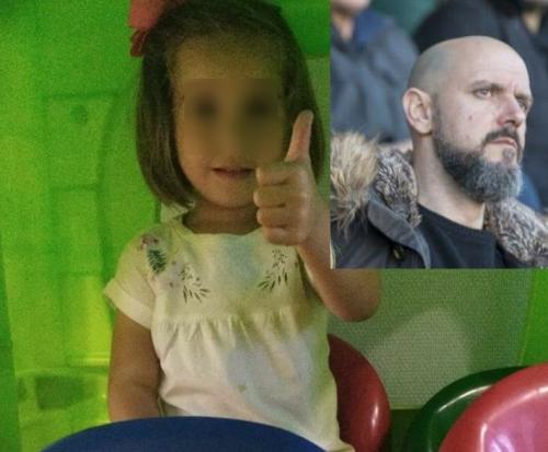 La niña saluda feliz una vez recuperada del susto el día en que la dieron el alta. En la imagen pequeña, el guardia civil que la salvó, Óscar García.