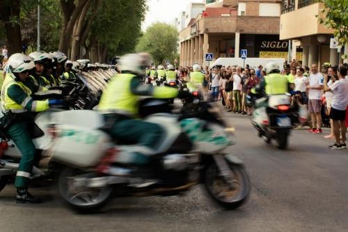 Motoristas de la Agrupación de Tráfico de la Guardia Civil: urge el aumento de efectivos.