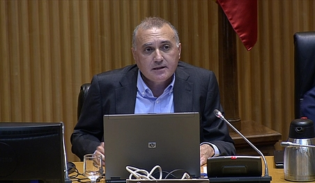 Alberto Moya, durante su intervención de ayer miércoles en la 'Comisión por un modelo policial del siglo XXI'