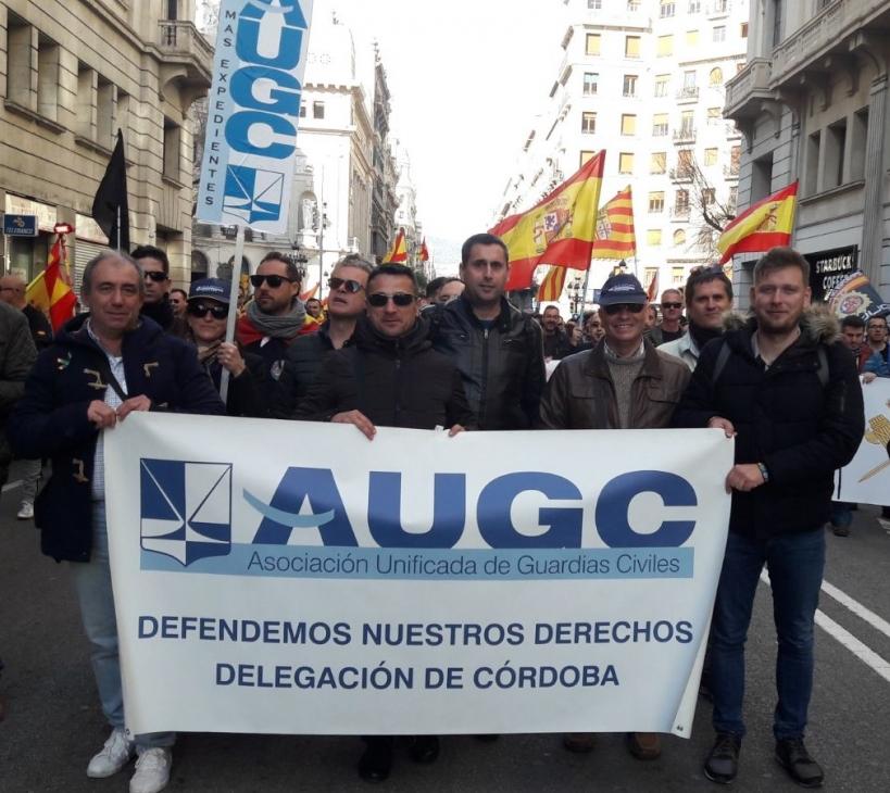 AUGC Córdoba manifestándose por la equiparación salarial