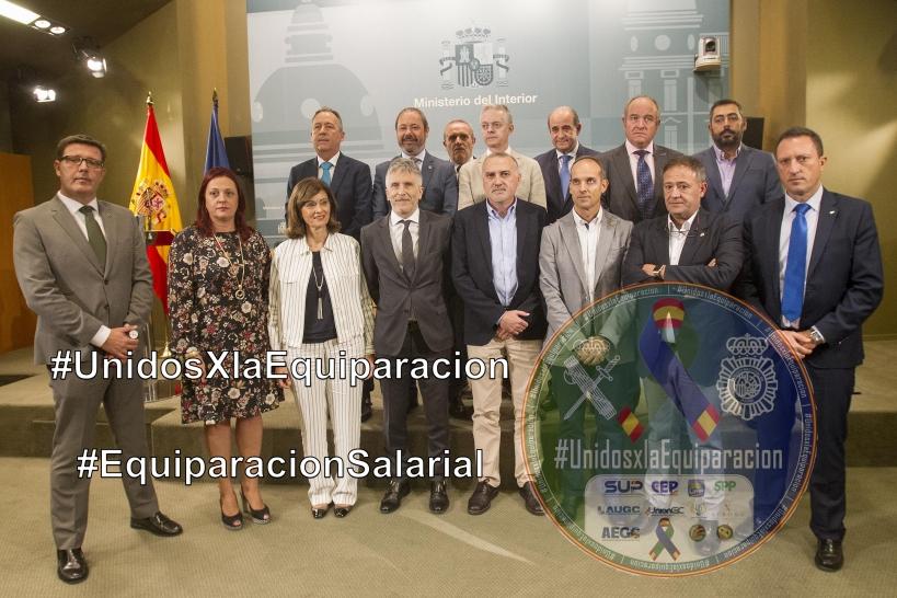 Encuentro entre el Ministerio del Interior con asociaciones y sindicatos representativos.