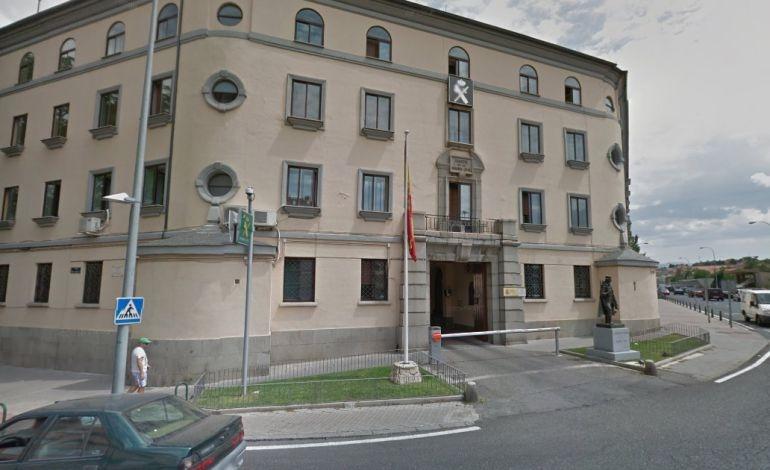Comandancia de la Guardia Civil de Segovia, en cuyo salón de actos tendrá lugar la asamblea de AUGC.