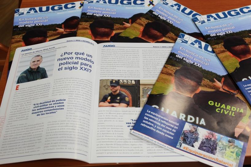 El undécimo número de AUGC destaca como uno de sus principales asuntos el nuevo modelo policial propuesto por AUGC.