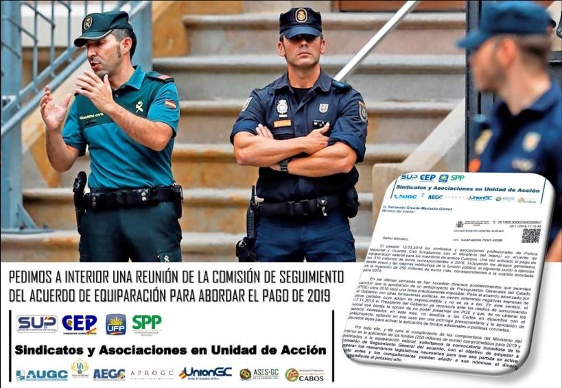 Asociaciones y sindicatos policiales en unidad de acción.