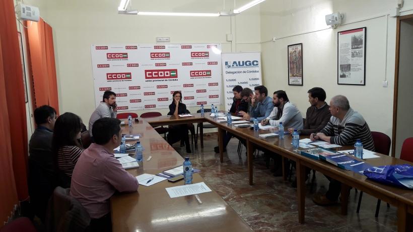 Asistentes al curso sobre trata de personas en Córdoba