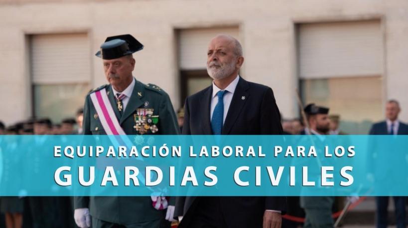Félix Azón, Director de la Guardia Civil, en uno de los números actos protocolarios.