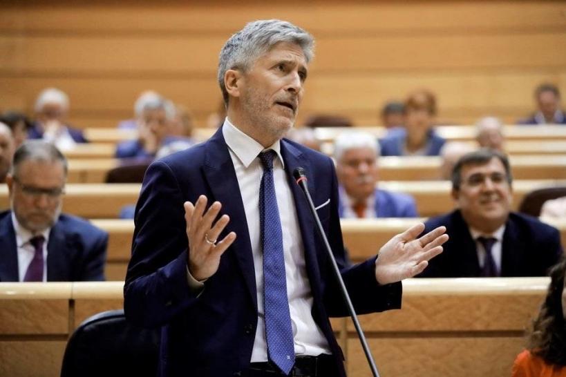 El ministro del Interior, Fernando Grande Marlaska, ha vuelto a ausentarse del Pleno del Consejo, del que es presidente.