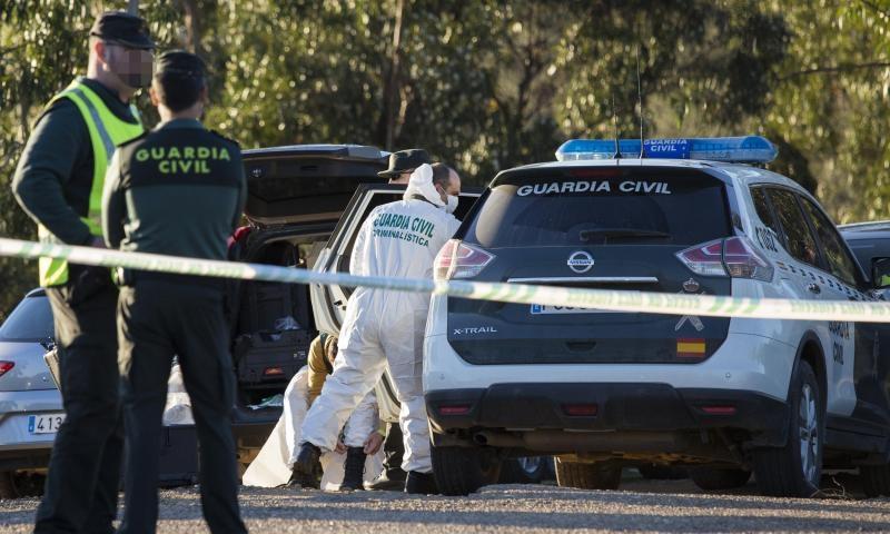 Guardias civiles en el lugar donde fue hallado el cuerpo de Laura Luelmo. Foto: Gtresonline