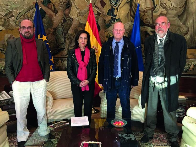 De izquierda a derecha: José Morata, Margarita Robles, Cabo Rosas y José Piñeiro.